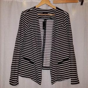 Black/White Striped Torrid Blazer